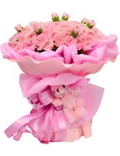 99枝粉色康乃馨