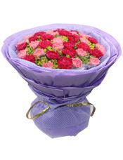 20枝红色康乃馨独立包装,20枝粉色康乃馨独立包装,叶上黄金丰满