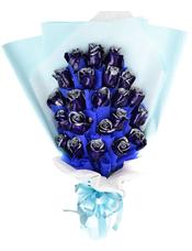 22枝蓝玫瑰独立包装