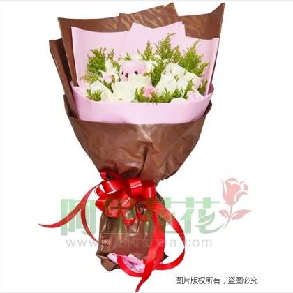 30枝玫瑰花/白玫瑰