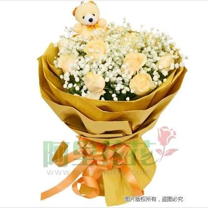 11枝玫瑰花/香槟玫瑰