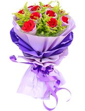 11枝红玫瑰独立包装,黄英丰满