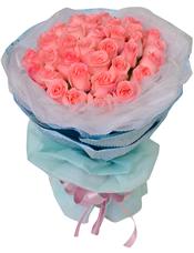 33枝粉玫瑰