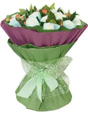 19枝白玫瑰精美独立包装