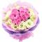 11枝粉玫瑰