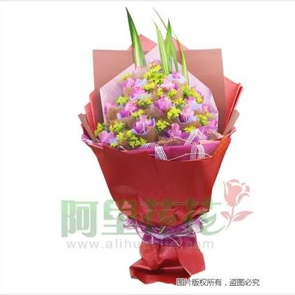 19枝玫瑰花/紫玫瑰