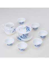 【福万利】青花寿桃茶具8件套
