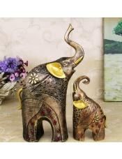 聚财情侣大象