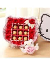 香皂花玫瑰kitty猫礼盒