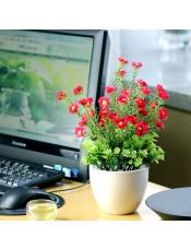 太阳花绢花 家居室内绿植盆栽 客厅电脑桌装饰花艺