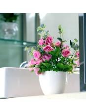 【仿真花】春色钻石玫瑰