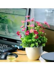 田园风假花盆景家居室内客厅茶几装饰花艺饰品套装