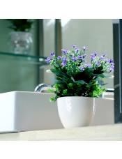 满天星塑料绢花 家居客厅植物装饰花艺盆景套装
