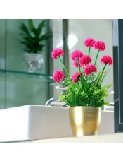 丁香花绢花假花 家居室内茶几桌面装饰花艺饰品