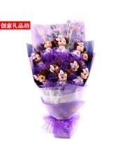 11只可爱迷人的糊娃娃欧式花束