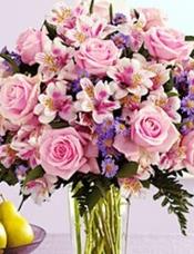 21枝粉玫瑰加配花