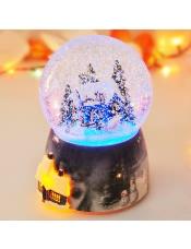 下雪屋水晶球音乐盒