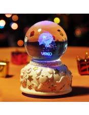 带灯水晶球旋转音乐盒