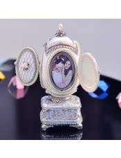 相框皇室蛋雕音乐盒镂空八音盒