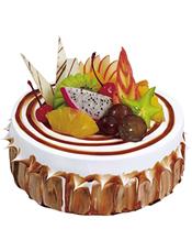 植物鲜奶油 水果夹 巧克力围边