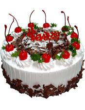 圆形鲜奶蛋糕,水果,巧克力屑装饰(绿色叶子仅为装饰品不作为蛋糕内容)