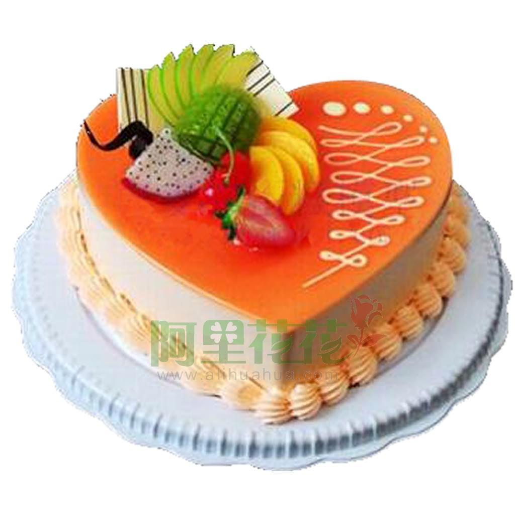 8寸普通蛋糕,爱之舞-适用场合:恋情蛋糕图片