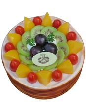 圆形慕斯蛋糕,时令水果装饰