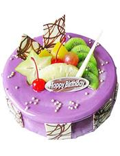 香芋(或蓝莓)蛋糕,水果(时令水果多种)巧克力插片