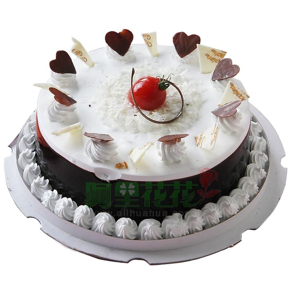 8寸普通蛋糕,快乐生日-适用场合:恋情蛋糕图片