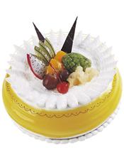 圆形水果蛋糕,时令水果装饰