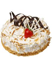 圆形水果蛋糕,螺旋巧克力、时令水果装饰