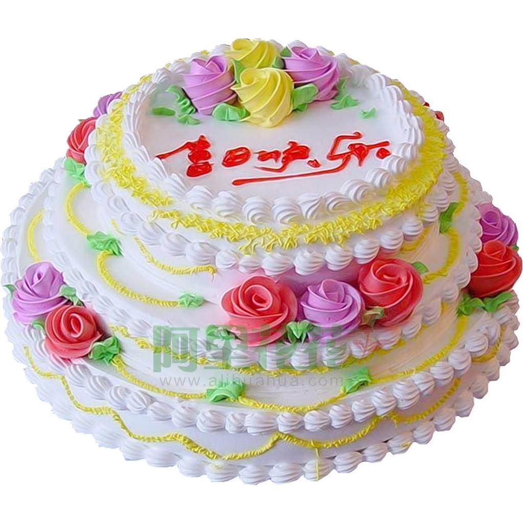 12寸普通蛋糕,添褔纳寿-适用场合:生日蛋糕图片