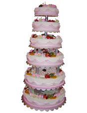 六层鲜奶水果蛋糕,时令水果