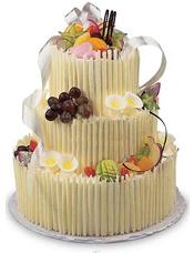 3层艺术蛋糕,水果装饰