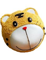可爱小老虎形状奶油蛋糕。(该款为艺术蛋糕,请提前咨询客服是否能做)