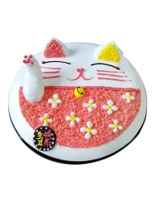 招财猫形状鲜奶蛋糕