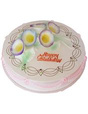 圆形鲜奶蛋糕,艺术雕花
