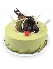 抹茶蛋糕,水果装饰