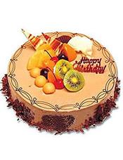 圆形提拉米苏蛋糕,时令水果装饰。 (请提前2-3天以上预定,并咨询客服人员所送地区能否制作)