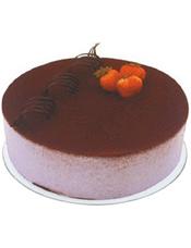 提拉米苏蛋糕,巧克力卷和水果装饰。 (请提前2-3天以上预定,并咨询客服人员所送地区能否制作)