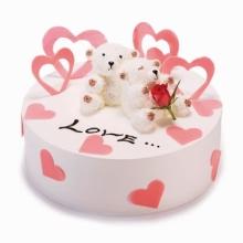 蛋糕图片:心心相依