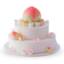 原味戚风蛋糕+酸奶提子夹心,直径25+18cm