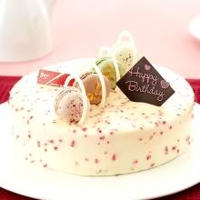 生日蛋糕图片:马卡龙乳酪
