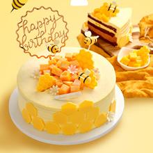 奶油蛋糕,芒果慕斯,夏威夷慕斯夹层