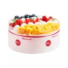 奶油水果蛋糕 85度c 鲜奶