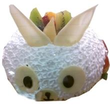 加油小兔蛋糕图片