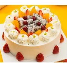 米旗缤纷水果蛋糕