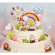 罗莎双层蛋糕规格:10寸+6寸,12寸+8寸