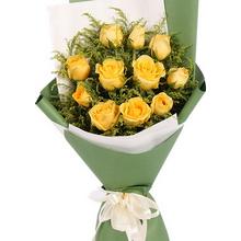11枝黄玫瑰,黄莺间插