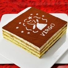 方形处女座提拉米苏蛋糕